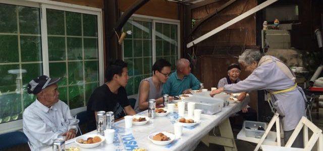 広島、山口県 友人家族と稲刈り